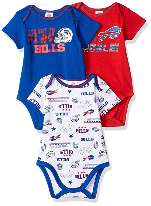 Image Unavailable. Image not available for. Color  NFL Buffalo Bills Unisex- Baby 3-Pack Short Sleeve ... bbce47e38