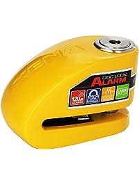 XENA (XX10-Y) Disc-Lock Alarm for Motorcycle, Yellow, Steel