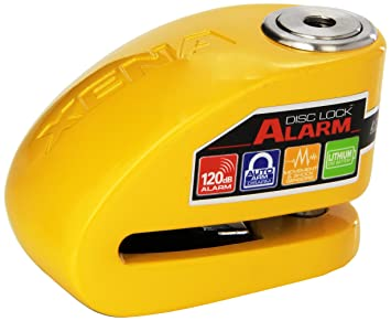 Xena (XX10-Y Disc-Lock Alarm for Motorcycle, Yellow, Steel ...