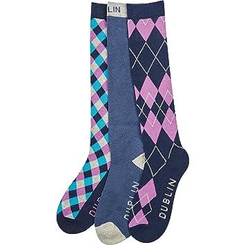Dublin 3 Pack calcetines de rombos azul adultos un tamaño: Amazon.es: Deportes y aire libre