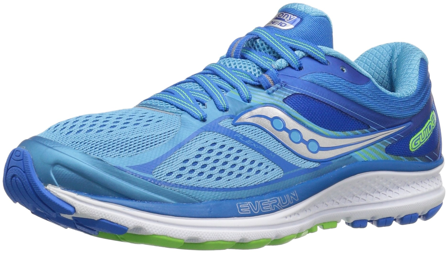 Saucony Women's Guide 10 Running Shoe, Light Blue/Blue, 9 W US