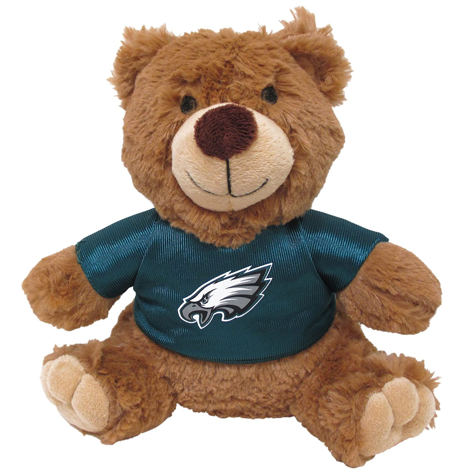 amazon com pets first nfl teddy bear plush toy with inner squeaker