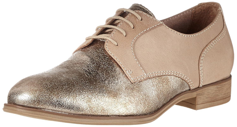 Tamaris 23213, Zapatos de Cordones Oxford para Mujer 40 EU Beige (Shell Comb)