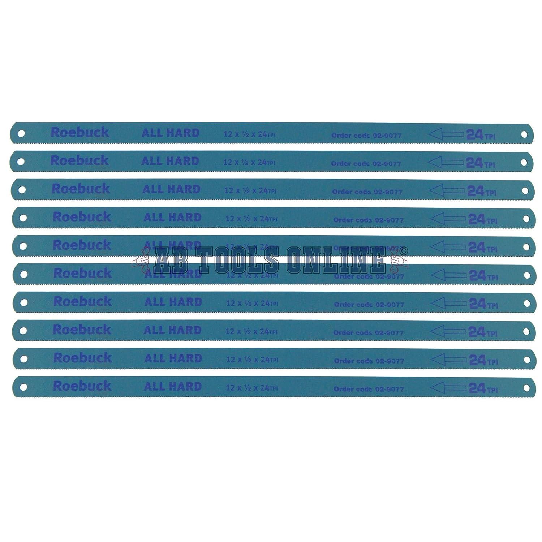 """Scie à métaux Lames 12/""""//300 mm 24 TPI pour la découpe métal bois plastique Pack de 10 MC12"""