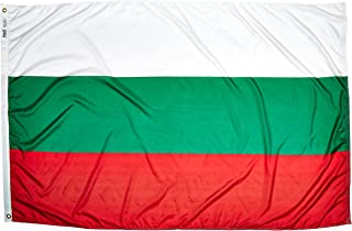product image for Annin Flagmakers Model 190916 Bulgaria Flag Nylon SolarGuard NYL-Glo, 4x6 ft, 100% Made in USA to Official United Nations Design Specifications