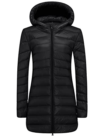 WenVen Women's Ultra Light Down Compact Hooded Coat at Amazon ...