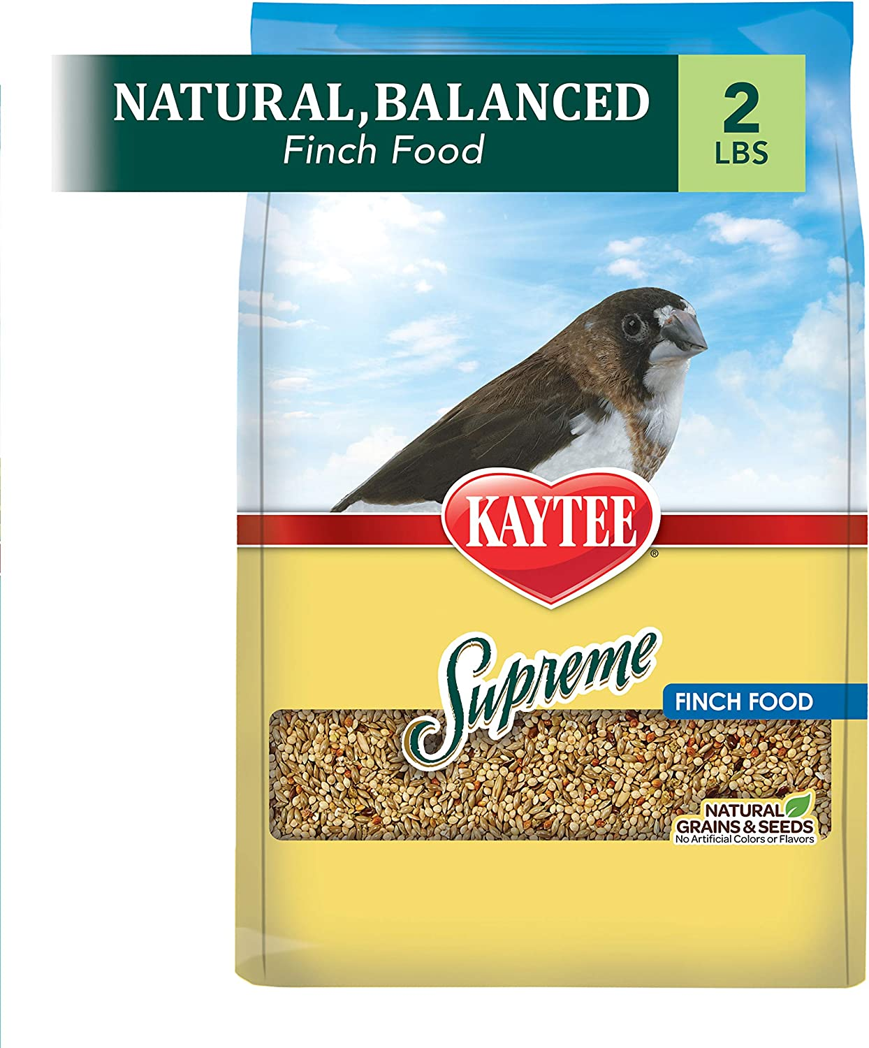 Kaytee Supreme Bird Food For Finches, 2-Lb Bag