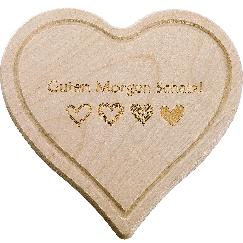 Super Schönes Holz Herz Schneidebrett Frühstücksbrett Mama Papa Oma Opa Muttertag Vatertag Idee Guten Morgen Schatz