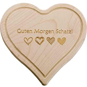 Super Schönes Holz Herz Schneidebrett Frühstücksbrett Mama Papa