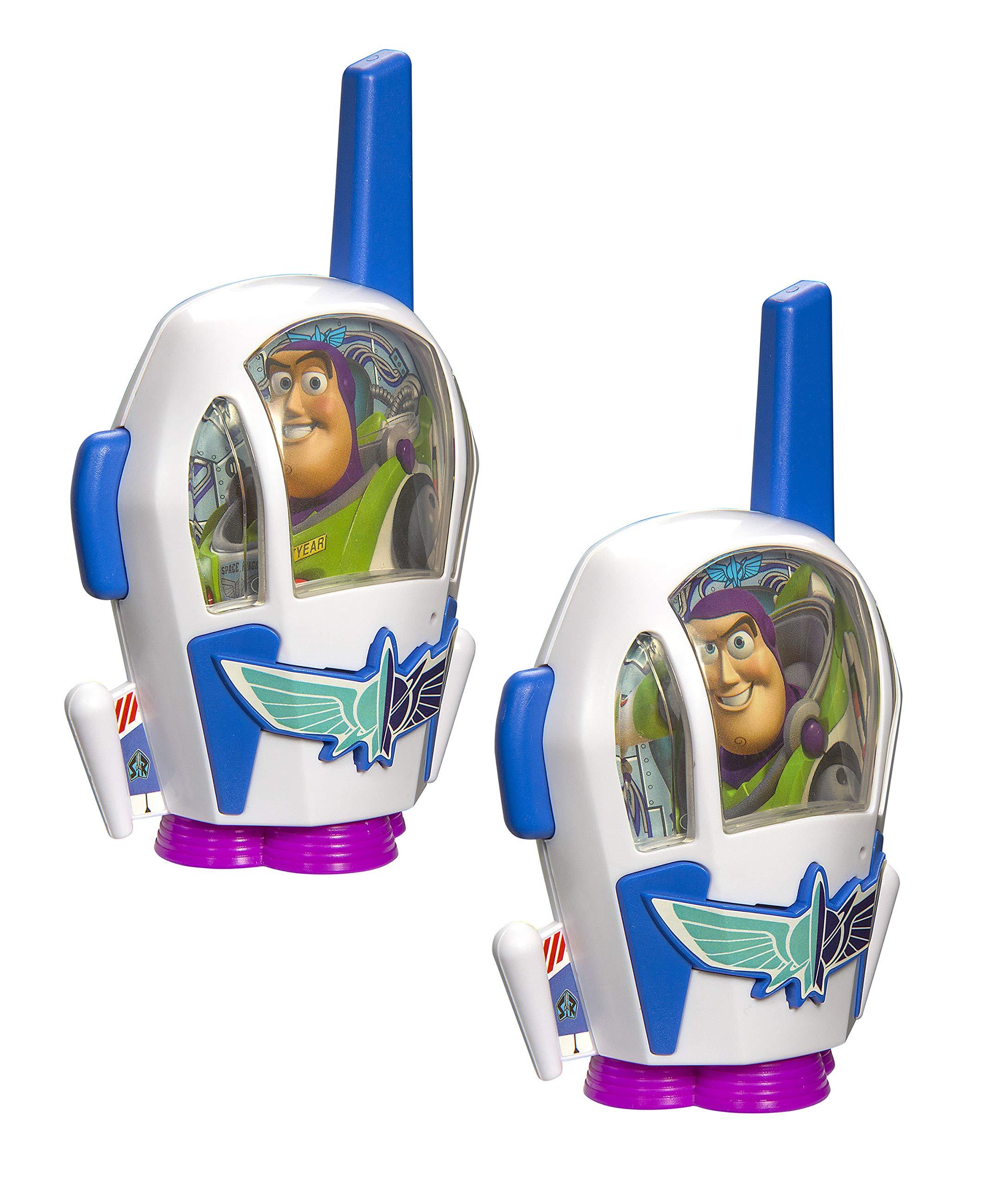 Toy Story 4 Buzz Lightyear Kids Walkie Talkies for Kids Static Free Extended Range Kid Friendly Easy to Use 2 Way Radio Toy Handheld Walkie Talkies Team Work Play Indoors or Outdoors by eKids (Image #3)