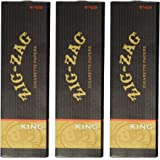 Zig Zag King Size Rolling Paper 3pk, Total 96 Leaves