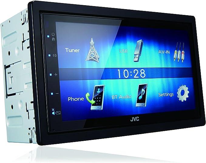 JVC KW-M24BT 50W Bluetooth Negro Receptor Multimedia para Coche - Radio para Coche (Am,FM, 87,5-108 MHz, 531-1611 kHz, 17,3 cm (6.8