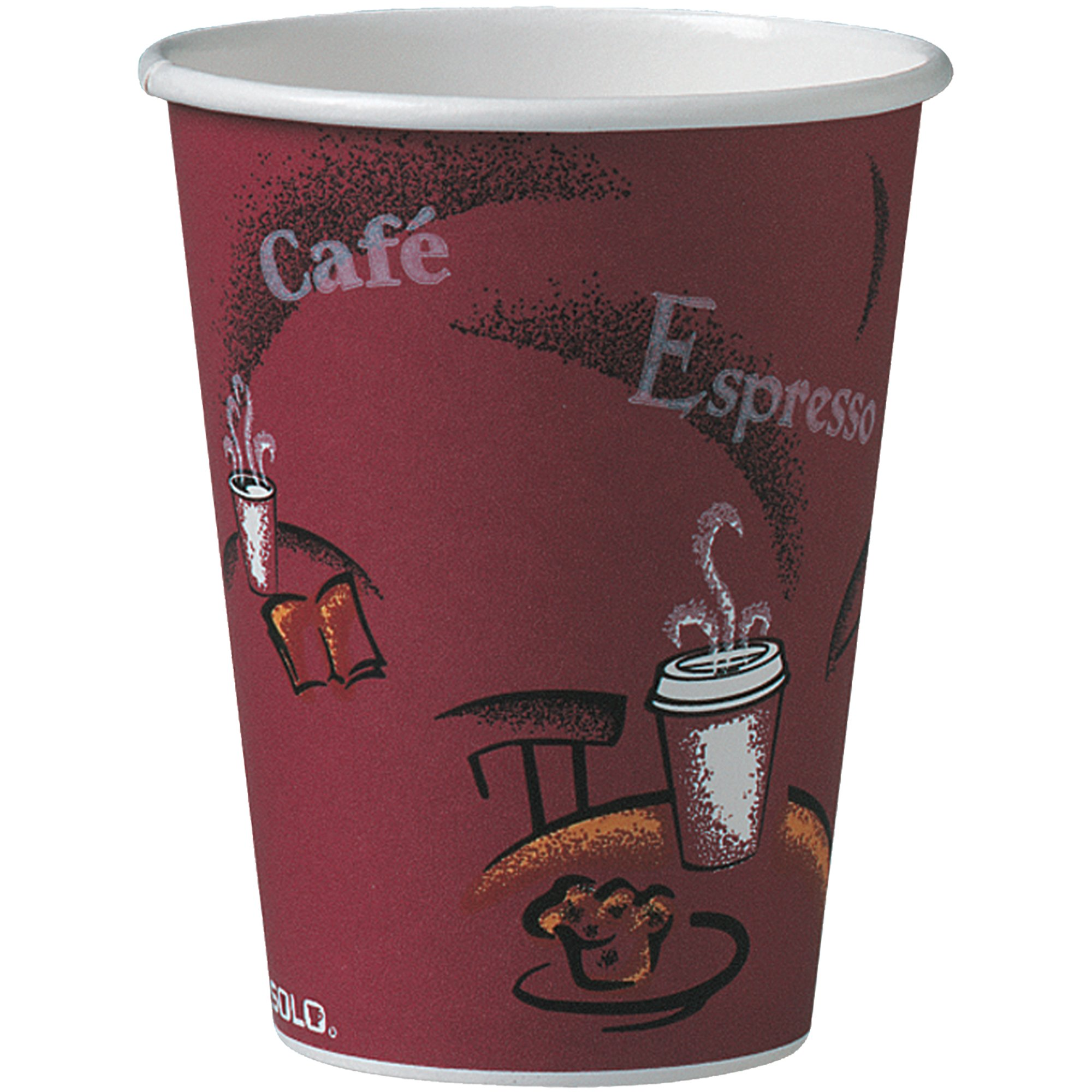Solo 412SIN-0041 12 oz Bistro SSP Paper Hot Cup (Case of 1000) by Solo Foodservice (Image #1)