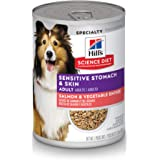 Hill's Science Diet Wet Dog Food, Adult, Sensitive Stomach & Skin, 12.8 Oz, 12-pack