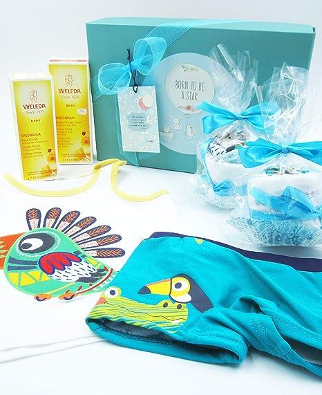 Canastilla Ecológica Bebé con Cremas WELEDA y dos Cupcakes (hechos ...