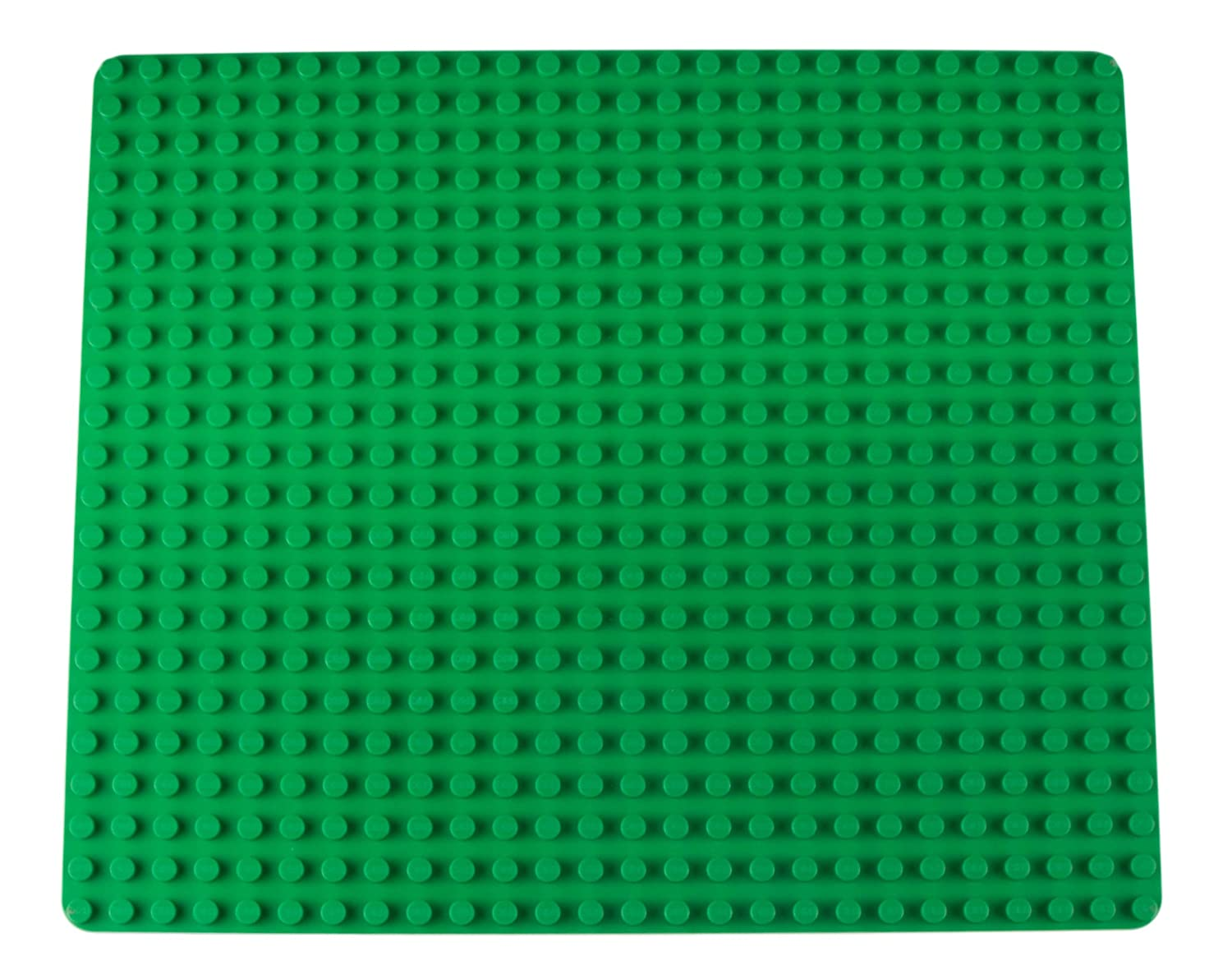 "Classic Stackable Baseplate for Large Building Bricks by Strictly Briks | 100% Compatible with All Major Brands | Large Pegs for Toddlers | Single Large Tight Fit Base Plate in Green (16.25"" x 13.75"") Review"