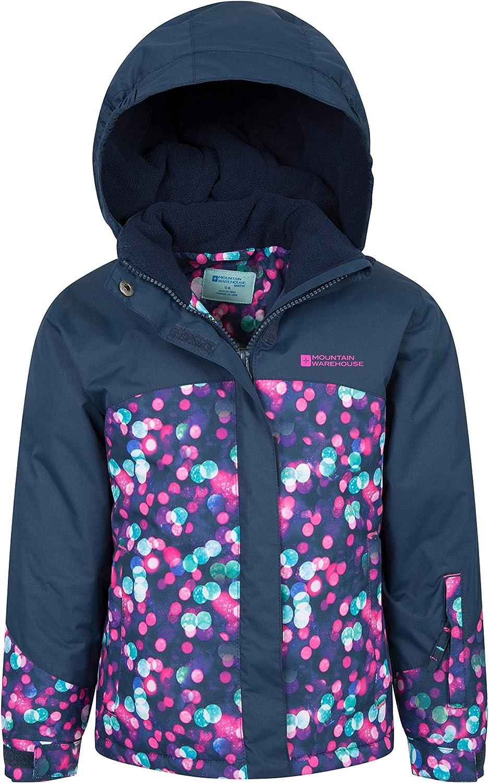 For Winter Fleece Lined Mountain Warehouse Night Light Kids Ski Jacket Waterproof Rain Coat