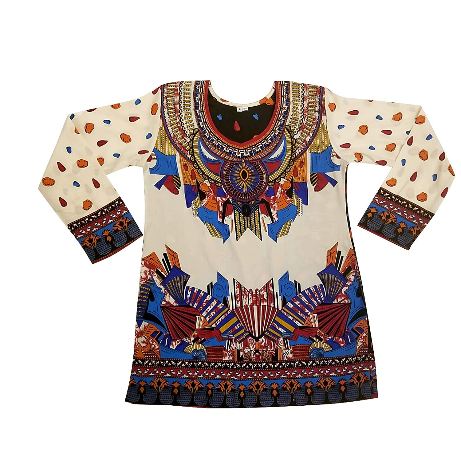 44910f6c3 BombayFashions Indian Tunic Top Womens Kurti Printed Blouse India Clothing  at Amazon Women's Clothing store: