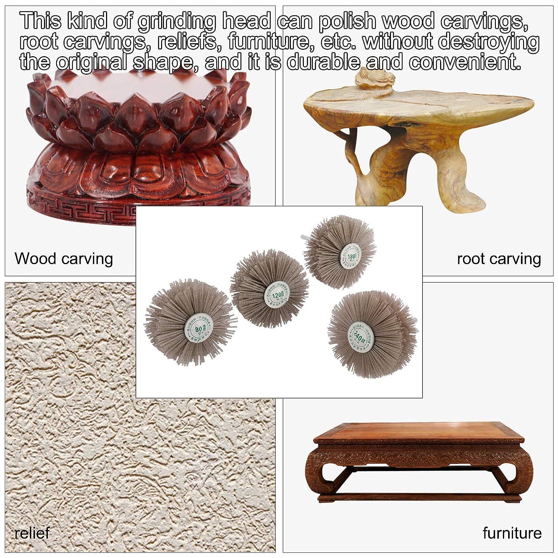 Wheel Brushes Finderomend 4 Pieces Abrasive Nylon Wheel Brush ...