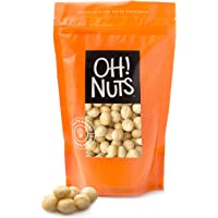 Oh! Nuts Jumbo Raw Macadamia Nuts | Unsalted, & Gluten-Free | All-Natural, Additive-Free Healthy Snack | Large-Sized, No…