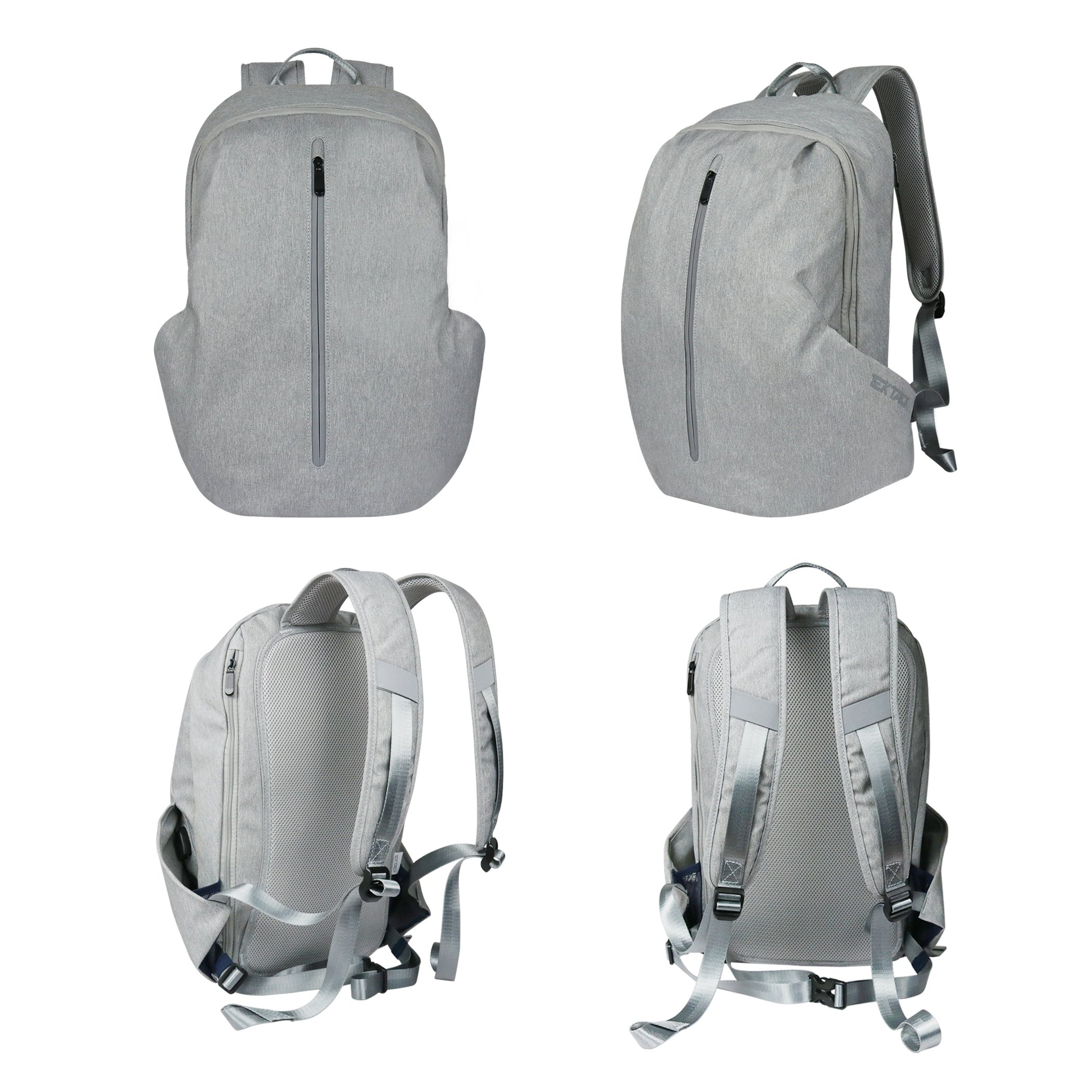 Tektalk Business Anti-theft Multifunctional Laptop Backpack, with USB Cable and Coded Lock, Durable & Lightweight, Suitable for Laptops up to 15.6 inches, for School / Travel / Work (Light Gray) by Tektalk (Image #2)