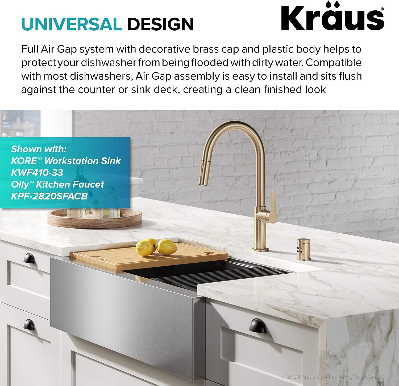 Amazon Com Kraus Kag 1bg Dishwasher Air Gap Brushed Gold Home Improvement