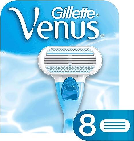 Gillette Venus - Pack de 8 cuchillas de afeitar: Amazon.es: Belleza