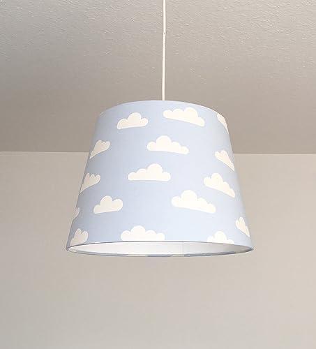 Lampe Kinderzimmer Junge Lampenschirm Kinder Wolken Hellblau Amazon