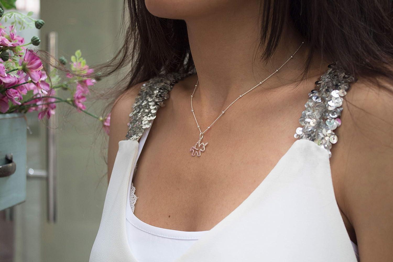 Ras du Cou Unicorn Argent Massif 925 Collier Pendentif Licorne pour Fille Femme avec Cha/îne 40 cm