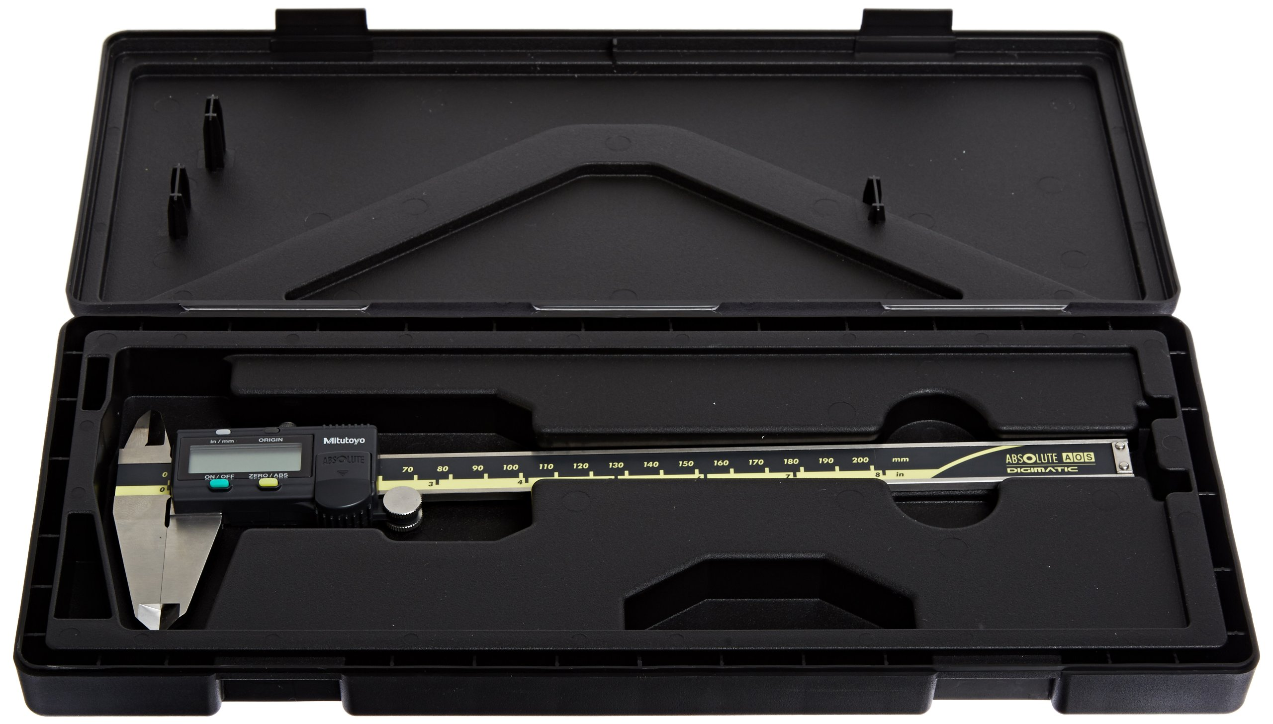 Mitutoyo 500-197-30 Advanced Onsite Sensor (AOS) Absolute Scale Digital Caliper, 0 to 8''/0 to 200mm Measuring Range, 0.0005''/0.01mm Resolution, LCD by Mitutoyo