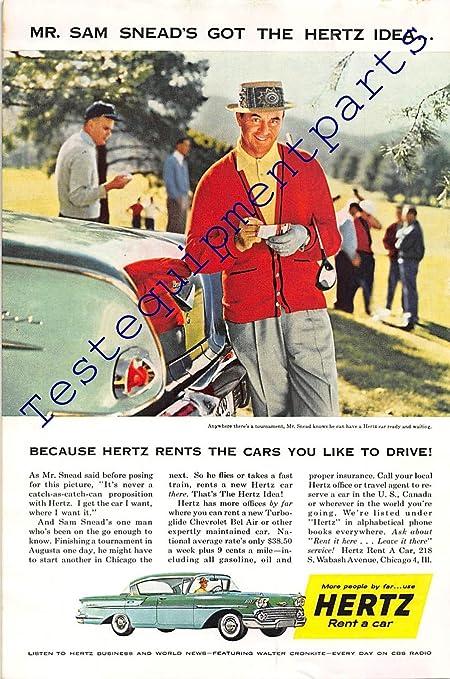 Print Ad 1958 Hertz, Rent A Car