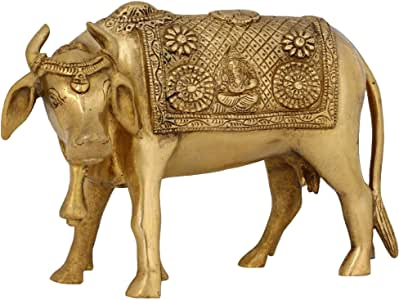 Adornos De Animales Para El Icono Religioso Hindú Vaca