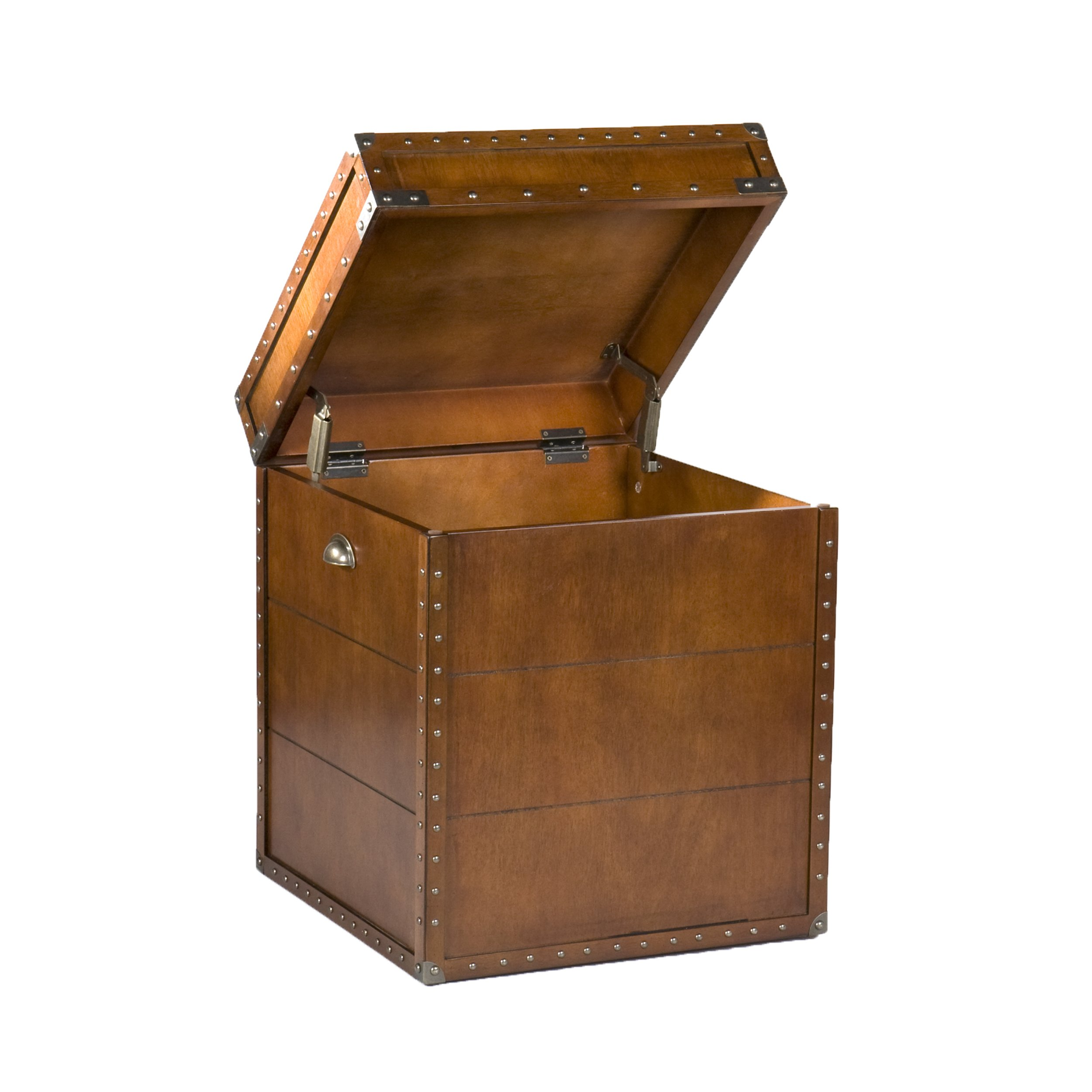 Southern Enterprises Steamer Trunk End Table - Rustic Nailhead Trim - Refinded Industrial Style by Southern Enterprises (Image #6)