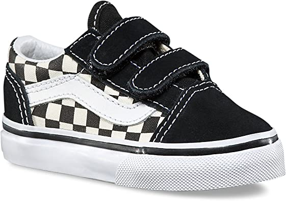 Vans Toddler Old Skool V (Primary Check) BlackWhite VN0A38JNP0S Toddler Size 6