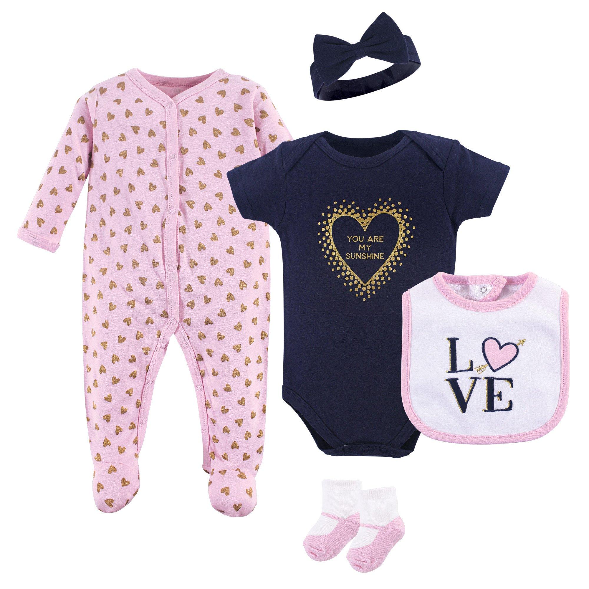Hudson Baby Multi Piece Clothing Set, Love 5, 6-9 Months