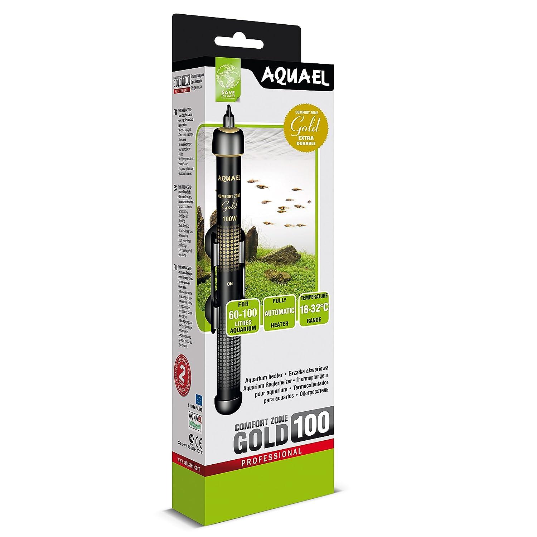 Aquael - Calentador de vidrio Comfort Zone Gold 200 W para acuario ...