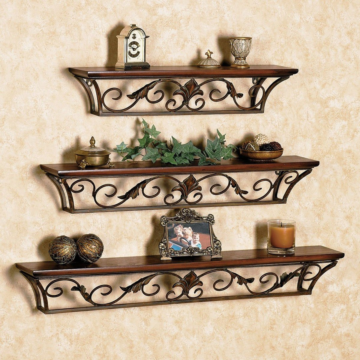 Artesia Brown , Wooden Wall Shelf (Set Of   3) Part 17