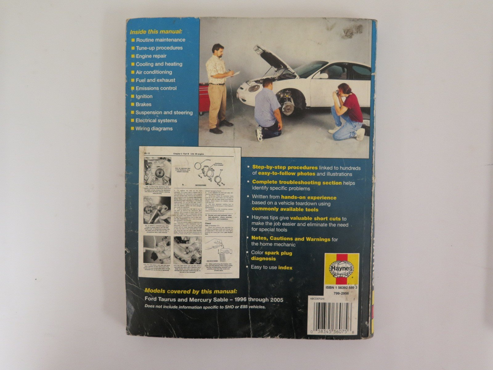 By Layne, Ken Ford Taurus & Mercury Sable 1996 thru 2005 (Hayne's  Automotive Repair Manual) (2006) Paperback: 7897186061719: Amazon.com: Books