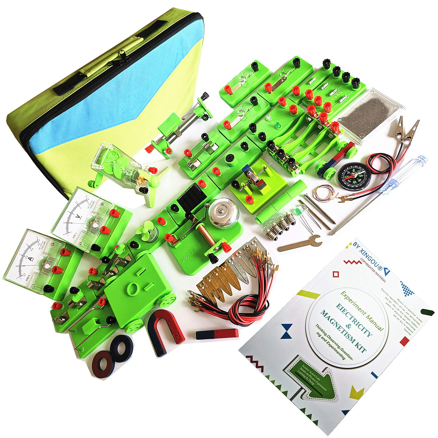 Circuit and Magnetic Science Exploration Kit - Exciting Stem Projects for Kids - Physics Lab Basic Electronics Magnetism Experiments Learning Toys