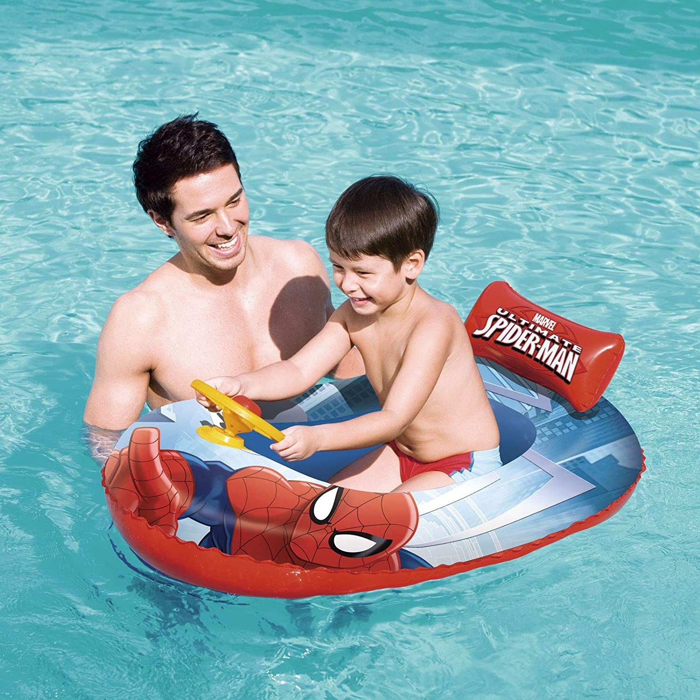Bestway 98009 - Barca Hinchable Infantil Spiderman 112x71: Bestway - A1301028 - Jeu de Plein Air - Bateau Ultimate Spider - 112 cm: Amazon.es: Juguetes y juegos