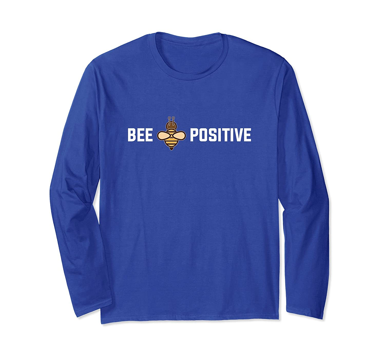 Happiness Long Sleeve-Bee Positive Pun Bumble Shirt-AZP