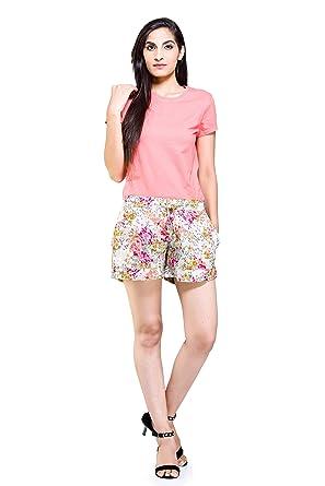 66c7a307e0 White Cotton Printed Women's Western Wear Shorts Hot Pants Night Pant Gyms Yoga  Shorts Sexy Girls