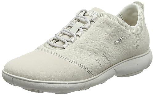 Geox D Nebula a, Zapatillas para Mujer, Blanco (Off White), 40 EU