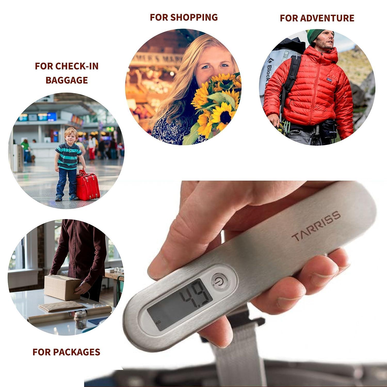 White Tarriss Jetsetter Digital Luggage Scale w// 110 lb Capacity