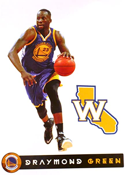 4f20b2f89956 Image Unavailable. Image not available for. Color  Draymond Green Mini  FATHEAD + Golden State Warriors Logo Official NBA Vinyl Wall Graphic ...