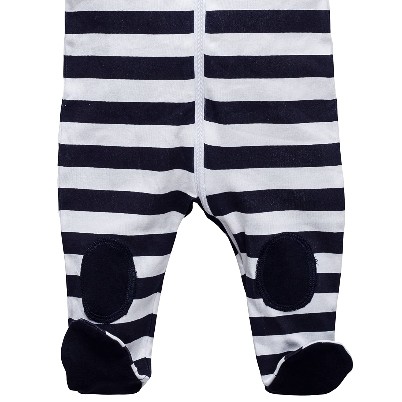 Baby Strampler Schlafanzug mit F/ü/ßen Gr/ö/ße 0-24 Monate Marine