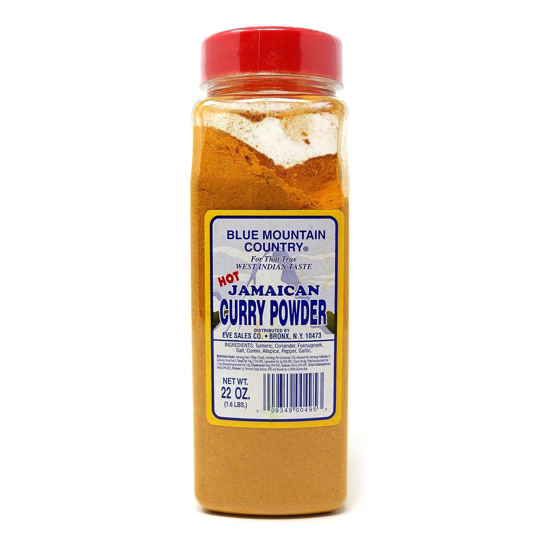 Amazon.com : Blue Mountain Jamaican Curry Powder Hot -22oz by Blue ...