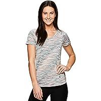 a18fd788 RBX Active Women's Space Dye Short Sleeve V-Neck Tee Shirt