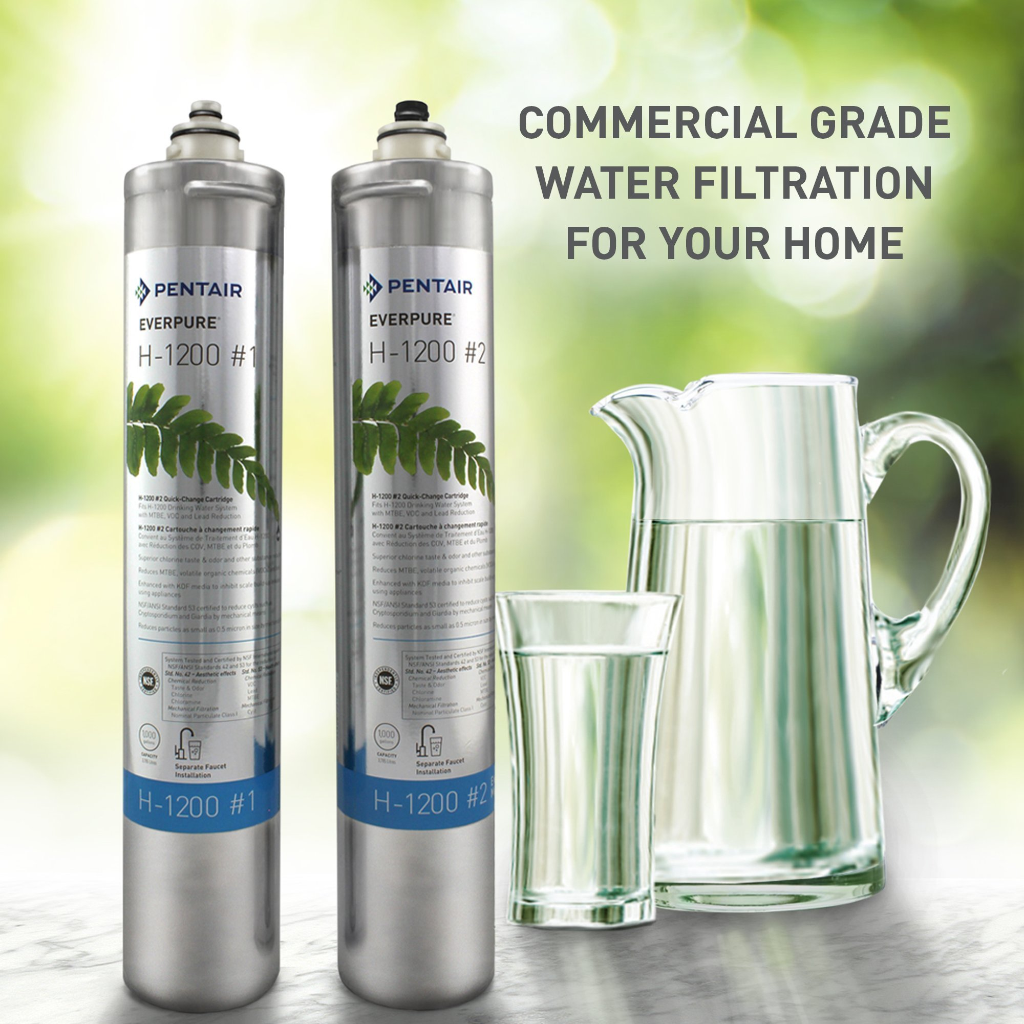 Everpure H-1200 Water Filter Replacement Cartridge Set (EV9282-01) by Everpure (Image #4)