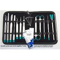 Trousse à dissection - 12 Instruments Pro en Inox - Universitaires & Etudiants
